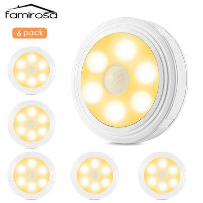 6PCS Famirosa LED Night Light with Human Body Induction