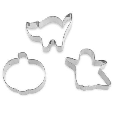 KUKI - FUN Halloween Cookie Cutters Ghosts Black Cat PumpkinOther Cooking Tools<br>KUKI - FUN Halloween Cookie Cutters Ghosts Black Cat Pumpkin<br><br>Material: Stainless Steel<br>Package Contents: 1 x Hallowmas Cookie Cutter Set<br>Package Size(L x W x H): 11.50 x 28.50 x 2.00 cm / 4.53 x 11.22 x 0.79 inches<br>Package weight: 0.0530 kg<br>Product weight: 0.0350 kg