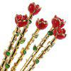 Chic Rose Flower Shaped Cosmetic Makeup Brush 5pcs - COLORMIX
