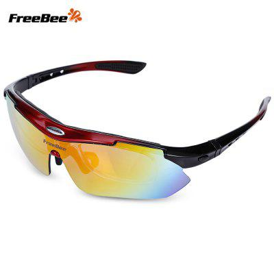 Buy RED WITH BLACK FreeBee 0089 Outdoor Cycling UV Protection Sunglasses for $13.22 in GearBest store