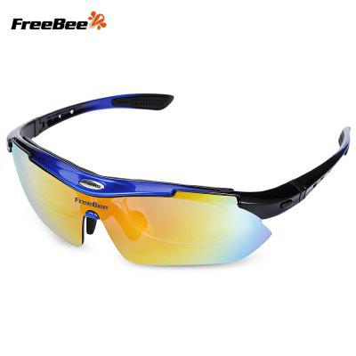 Buy BLUE AND BLACK FreeBee 0089 Outdoor Cycling UV Protection Sunglasses for $13.22 in GearBest store