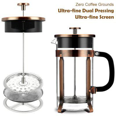 Famirosa Multipurpose French Press for Coffee and TeaCoffee &amp; Tea Sets<br>Famirosa Multipurpose French Press for Coffee and Tea<br><br>Package Contents: 1 x French Press, 1 x Spoon, 4 x Filter Screen<br>Package Size(L x W x H): 16.00 x 16.00 x 26.00 cm / 6.3 x 6.3 x 10.24 inches<br>Package weight: 0.7880 kg<br>Product Size(L x W x H): 16.00 x 10.50 x 21.00 cm / 6.3 x 4.13 x 8.27 inches<br>Product weight: 0.6000 kg