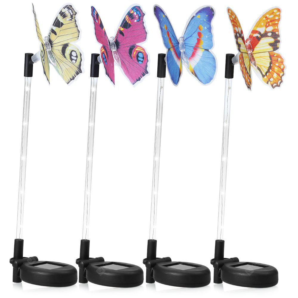 4PCS LED Solar Powered Butterfly Stake Lights Decoration
