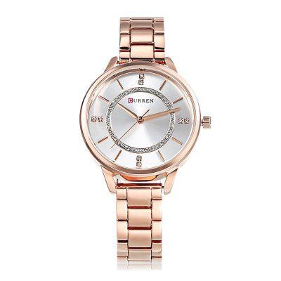 Curren 9006 Women Quartz WatchWomens Watches<br>Curren 9006 Women Quartz Watch<br><br>Band Length: 6.3 inch<br>Band Material Type: Stainless Steel<br>Band Width: 14mm<br>Case material: Alloy<br>Case Shape: Round<br>Case Thickness: 0.39 inch<br>Clasp type: Folding Clasp<br>Dial Diameter: 1.38 inch<br>Dial Display: Analog<br>Dial Material Type: Alloy<br>Dial Window Material Type: Hardlex<br>Gender: Women<br>Movement: Quartz<br>Package Contents: 1 x Watch<br>Package Size(L x W x H): 11.50 x 8.50 x 7.00 cm / 4.53 x 3.35 x 2.76 inches<br>Package weight: 0.1790 kg<br>Product Size(L x W x H): 20.00 x 4.00 x 1.00 cm / 7.87 x 1.57 x 0.39 inches<br>Product weight: 0.0720 kg<br>Style: Dress<br>Water Resistance Depth: 30m
