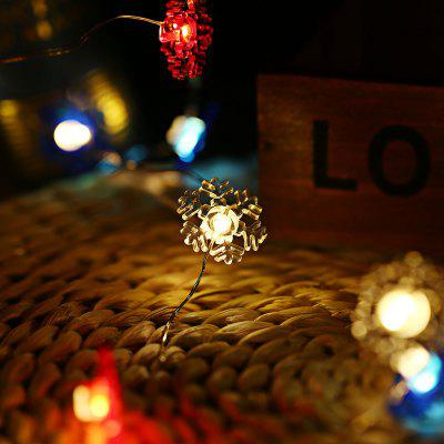 Buy COLORFUL 2M 20 LEDs Snowflake Wire Cooper Wire String Light for $4.54 in GearBest store