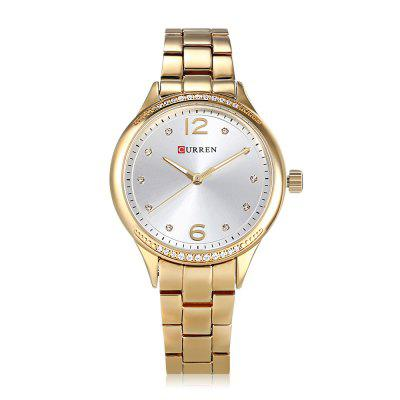 Curren 9003 Women Quartz WatchWomens Watches<br>Curren 9003 Women Quartz Watch<br><br>Band Length: 6.3 ich<br>Band Material Type: Stainless Steel<br>Band Width: 14mm<br>Case material: Alloy<br>Case Shape: Round<br>Case Thickness: 0.39 inch<br>Clasp type: Folding Clasp<br>Dial Diameter: 1.38 inch<br>Dial Display: Analog<br>Dial Window Material Type: Hardlex<br>Feature: Luminous<br>Gender: Women<br>Movement: Quartz<br>Package Contents: 1 x Watch<br>Package Size(L x W x H): 11.50 x 8.50 x 7.00 cm / 4.53 x 3.35 x 2.76 inches<br>Package weight: 0.1860 kg<br>Product Size(L x W x H): 20.00 x 4.00 x 1.00 cm / 7.87 x 1.57 x 0.39 inches<br>Product weight: 0.0790 kg<br>Style: Dress<br>Water Resistance Depth: 30m