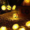 2M 20 LEDs Expression Shape Cooper Wire String Light - YELLOW