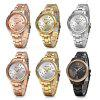 Curren 9009 Women Quartz Watch Crystal Dial Female Wristwatch - GOLD AND WHITE