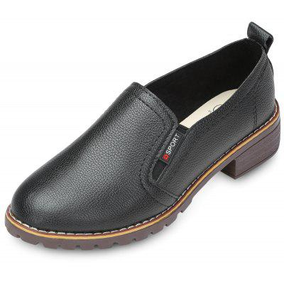 Bout pointu Slip-on faible chunky talon femmes chaussures