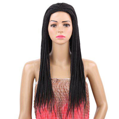 Long Braided Centre Parting Synthetic Hair Dreadlocks Wig