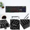 Warwolf KM - 001 Wired Keyboard Mouse Suit LED Backlight - BLACK