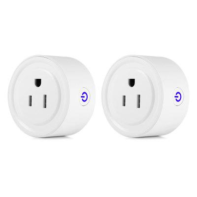 Pair of Famirosa WiFi US Socket Outlet with Amazon Alexa
