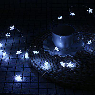 NW - 0315 3m 30 LEDs Star Copper Wire Fairy String Light