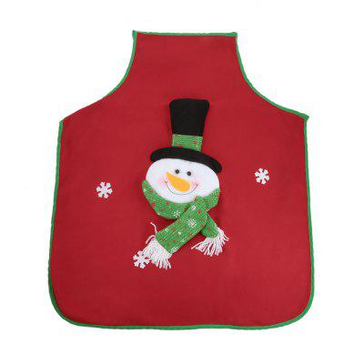 Buy RED SNOWMAN Christmas Style Kitchen Apron for $6.18 in GearBest store