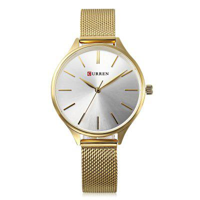 Curren 9024 Women Quartz Watch Simple Ultra-thin DialWomens Watches<br>Curren 9024 Women Quartz Watch Simple Ultra-thin Dial<br><br>Band Length: 8.15 inch<br>Band Material Type: Stainless Steel<br>Band Width: 14mm<br>Case material: Alloy<br>Case Shape: Round<br>Case Thickness: 0.28 inch<br>Clasp type: Hook Buckle<br>Dial Diameter: 1.38 inch<br>Dial Display: Analog<br>Dial Window Material Type: Hardlex<br>Gender: Women<br>Movement: Quartz<br>Package Contents: 1 x Watch<br>Package Size(L x W x H): 11.50 x 8.50 x 7.50 cm / 4.53 x 3.35 x 2.95 inches<br>Package weight: 0.1610 kg<br>Product Size(L x W x H): 24.50 x 3.80 x 0.70 cm / 9.65 x 1.5 x 0.28 inches<br>Product weight: 0.0540 kg<br>Style: Simple<br>Water Resistance Depth: 30m