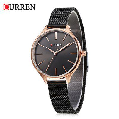 Curren 9024 Women Quartz Watch Dial ultra-fino simples