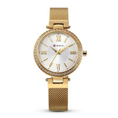 Curren 9011 Women Quartz Ultra-thin Dial WatchWomens Watches<br>Curren 9011 Women Quartz Ultra-thin Dial Watch<br><br>Band Length: 6.69 inch<br>Band Material Type: Stainless Steel<br>Band Width: 12mm<br>Case material: Alloy<br>Case Shape: Round<br>Case Thickness: 0.28 inch<br>Clasp type: Folding Clasp<br>Dial Diameter: 1.38 inch<br>Dial Display: Analog<br>Dial Window Material Type: Hardlex<br>Gender: Women<br>Movement: Quartz<br>Package Contents: 1 x Watch<br>Package Size(L x W x H): 11.50 x 8.50 x 7.50 cm / 4.53 x 3.35 x 2.95 inches<br>Package weight: 0.1730 kg<br>Product Size(L x W x H): 21.00 x 4.00 x 0.70 cm / 8.27 x 1.57 x 0.28 inches<br>Product weight: 0.0650 kg<br>Style: Simple<br>Water Resistance Depth: 30m