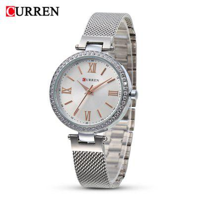 Curren 9011 Women Quartz Watch Simple Ultra-thin Dial Female Wristwatch