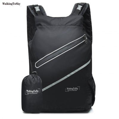 WalkingToSky Brand Backpacks For Men Women Lightweight Daypack 24L Durable School Waterproof Handy Backpack for Travel