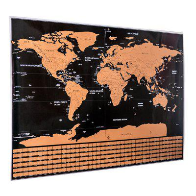 Scratch-off World Map with US States and Country FlagsWall Stickers<br>Scratch-off World Map with US States and Country Flags<br><br>Material: Other<br>Package Contents: 1 x Scratch off World Map<br>Package Size(L x W x H): 5.50 x 5.50 x 52.30 cm / 2.17 x 2.17 x 20.59 inches<br>Package weight: 0.3000 kg<br>Product weight: 0.2600 kg<br>Style: Modern<br>Usage: Entertainment<br>Use: Kids Room, Living Room