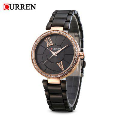 Curren 9014 Women Quartz Watch Crystal Dial