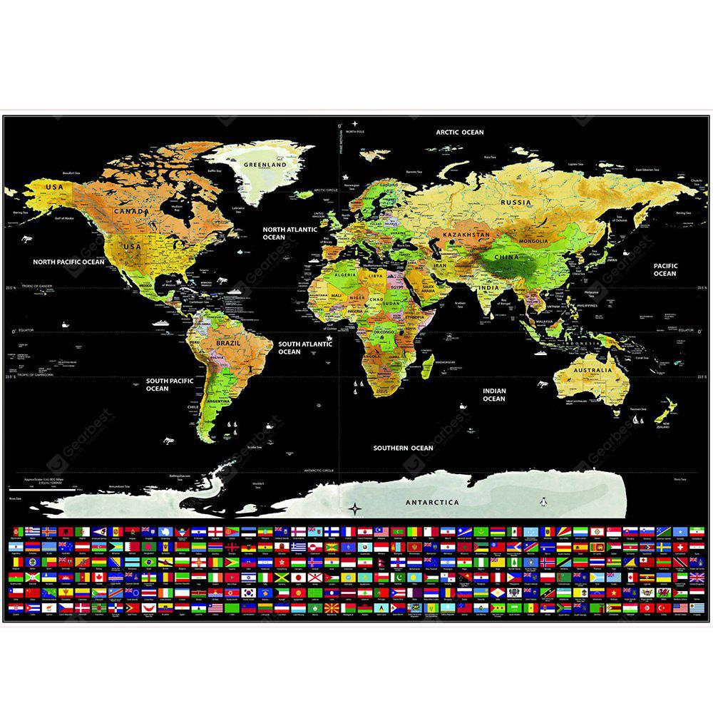 Scratch off world map with us states and country flags 868 free scratch off world map with us states and country flags gumiabroncs Gallery