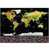 Scratch-off World Map with US States and Country Flags - COLORMIX