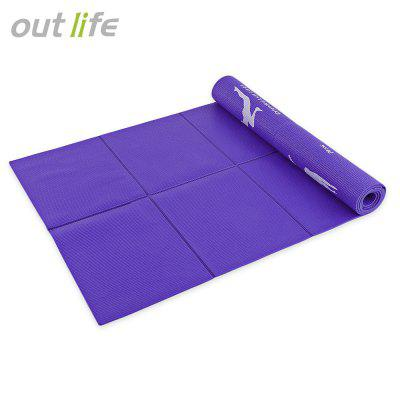 Outlife 173CM Non-slip Reversible Fitness PVC Yoga Mat