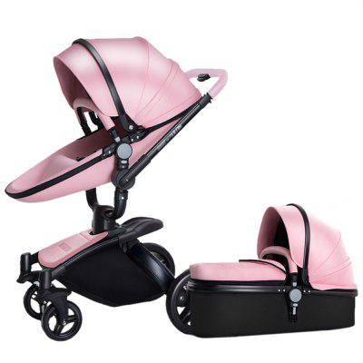 Baby Stroller with Bassinet  -  PINK