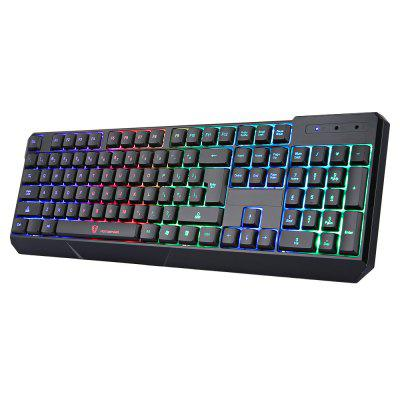 MotoSpeed ​​K70L Teclado con juegos USB con cable 7 colores con soporte retroiluminado Windows XP 2000 Vista Mac