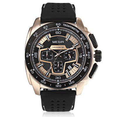 MEGIR MN2056 Male Calendar Stopwatch Quartz WatchMens Watches<br>MEGIR MN2056 Male Calendar Stopwatch Quartz Watch<br><br>Band Length: 8.39 inch<br>Band Material Type: Silicone<br>Band Width: 20mm<br>Case material: Alloy<br>Case Shape: Round<br>Case Thickness: 0.47 inch<br>Clasp type: Pin Buckle<br>Dial Diameter: 1.77 inch<br>Dial Display: Analog<br>Dial Window Material Type: Hardlex<br>Feature: Luminous, Chronograph<br>Gender: Men<br>Movement: Quartz<br>Package Contents: 1 x Watch<br>Package Size(L x W x H): 11.50 x 7.50 x 6.50 cm / 4.53 x 2.95 x 2.56 inches<br>Package weight: 0.1960 kg<br>Product Size(L x W x H): 26.50 x 5.20 x 1.20 cm / 10.43 x 2.05 x 0.47 inches<br>Product weight: 0.1120 kg<br>Style: Business<br>Water Resistance Depth: 30m