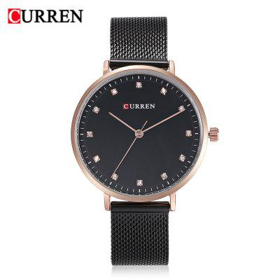 Curren 9023 Women Rhinestone Scales Quartz Watch