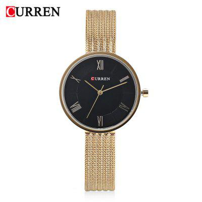 Curren 9020 Women Quartz Watch Simple Ultra-thin Dial Female Wristwatch