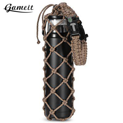 Gameit Flask Water Bottle Carrier 18m Paracord Net Holder