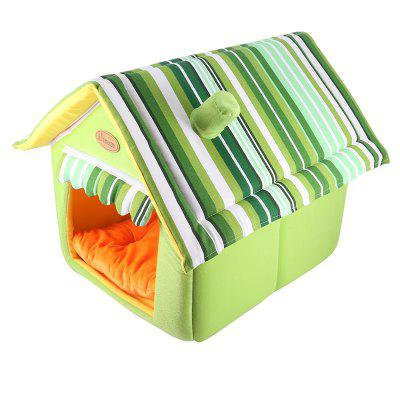 Washable Dog Cat House Pet Bed with Removable Pad