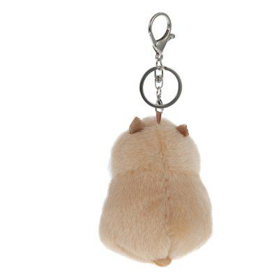 Lovely Hamster KeychainStuffed Cartoon Toys<br>Lovely Hamster Keychain<br><br>Material: Plush<br>Package Contents: 1 x Keychain<br>Package Size(L x W x H): 11.50 x 9.50 x 5.50 cm / 4.53 x 3.74 x 2.17 inches<br>Package weight: 0.0600 kg<br>Product Size(L x W x H): 8.00 x 6.00 x 18.00 cm / 3.15 x 2.36 x 7.09 inches<br>Product weight: 0.0380 kg<br>Type: Accessories