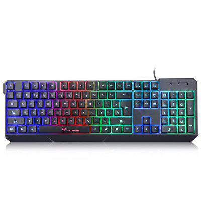 MotoSpeed K70L USB Wired Gaming Keyboard 7 Color Backlit Support Windows XP 2000 Vista Mac