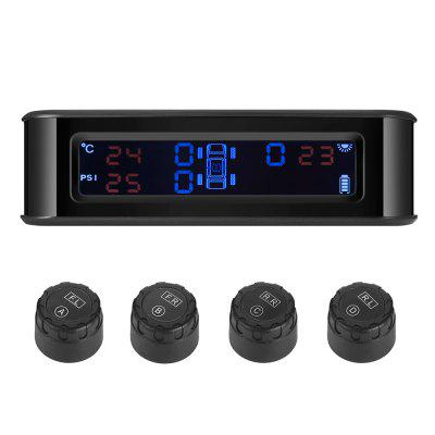ZEEPIN C220 Car Solar Powered TPMS 4 External Sensors
