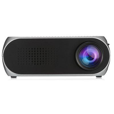YG320 Mini Portable Projectorprojectors<br>YG320 Mini Portable Projector<br><br>3D: No<br>Aspect Ratio: 4:3<br>Audio Formats: WMA,  MP3<br>Bluetooth: Unsupport<br>Brightness: 400 - 600 Lumens<br>Built-in Speaker: Yes<br>Contrast Ratio: 800:1<br>Display type: LCD<br>DVB-T Supported: No<br>External Subtitle Supported: No<br>Function: Speaker<br>Image Scale: 4:3<br>Image Size: 20 - 80 inch<br>Interface: AV, USB, Micro SD Card Slot, HDMI, Earphone, DC Port<br>Lamp: LED<br>Lamp Life: 30,000 hours<br>Lamp Power: 14W<br>Material: ABS<br>Native Resolution: 320 x 240<br>Noise (dB): 30<br>Package Contents: 1 x Mini Projector, 1 x Remote Controller, 1 x Audio Cable, 1 x Charger Adapter, 1 x English User Manual<br>Package size (L x W x H): 19.50 x 17.70 x 8.30 cm / 7.68 x 6.97 x 3.27 inches<br>Package weight: 0.5660 kg<br>Picture Formats: PNG, BMP,  JPG<br>Power Supply: 12V<br>Product size (L x W x H): 13.30 x 8.50 x 5.00 cm / 5.24 x 3.35 x 1.97 inches<br>Product weight: 0.2440 kg<br>Projection Distance: 0.8 - 2M<br>Resolution Support: 1920 x 1080<br>Throw Ration: 1.6:1<br>Video Formats: MOV, MPEG1 / 2 / 4,  H.264,  MP4 ,  RM / RMVB,  DIVX,  VC1,  MJPEG,  FLV