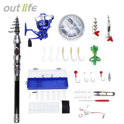 Outlife Outdoor Fishing Spinning Reel Rod Kit