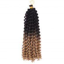 Shaggy Synthetic Water Wave Flashy Curl Braids Hair Weave