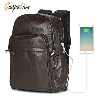 Guapabien Men Backpack USB Charge Male Waterproof Bag