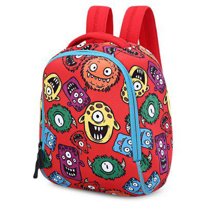 TongChang Kid Cartoon School Bag Monster Print Backpack hot selling anime inuyasha sesshoumaru cosplay shoulders oxford bag backpack cartoon cute schoolbag satchel book bags