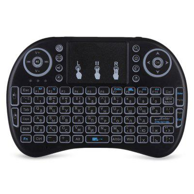 iPazzPort I8 2.4GHz Wireless QWERTY Keyboard with Touchpad MouseAir Mouse<br>iPazzPort I8 2.4GHz Wireless QWERTY Keyboard with Touchpad Mouse<br><br>Application: Desktop, Laptop<br>Brand: iPazzPort<br>Color: Black<br>Hand Orientation: Both Hands<br>Interface Type: USB<br>Model Number: I8<br>Package Contents: 1 x 2.4GHz Mini Wireless QWERTY Keyboard, 1 x USB Cable, 1 x USB Receiver<br>Package Size(L x W x H): 17.00 x 11.00 x 3.00 cm / 6.69 x 4.33 x 1.18 inches<br>Package weight: 0.2010 kg<br>Product Size(L x W x H): 14.50 x 9.50 x 1.90 cm / 5.71 x 3.74 x 0.75 inches<br>Product weight: 0.1190 kg<br>Type: 2.4GHz Wireless<br>Wireless Technology: 2.4GHz