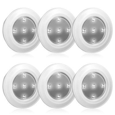 6PCS N005 LED Smart Cabinet Lamp with Remote Control