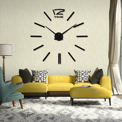 3D Mirror Effect Stickers Wall Clock Home Decoration ...