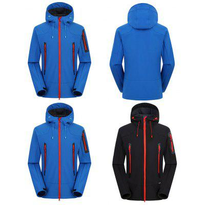 Outdoor Soft Shell Coat for MenSports Clothing<br>Outdoor Soft Shell Coat for Men<br><br>Closure Type: Zipper<br>Feature: Breathable, Waterproof, Windproof<br>Gender: Men<br>Package Contents: 1 x Soft Shell Coat<br>Package Size(L x W x H): 35.00 x 30.00 x 7.00 cm / 13.78 x 11.81 x 2.76 inches<br>Package weight: 0.7400 kg<br>Product weight: 0.6900 kg