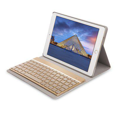 F16S Wireless Keyboard with Leather Case Colorful Backlight