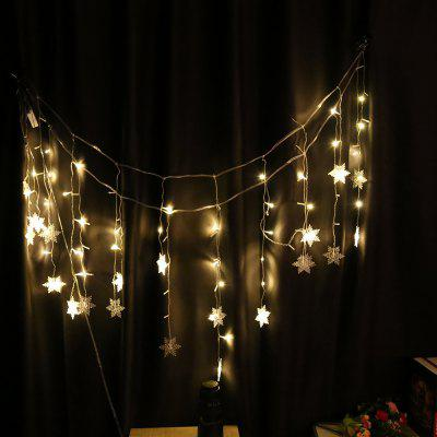 DIY LED Snowflake Hanging String Lamp Lights for Parties Home