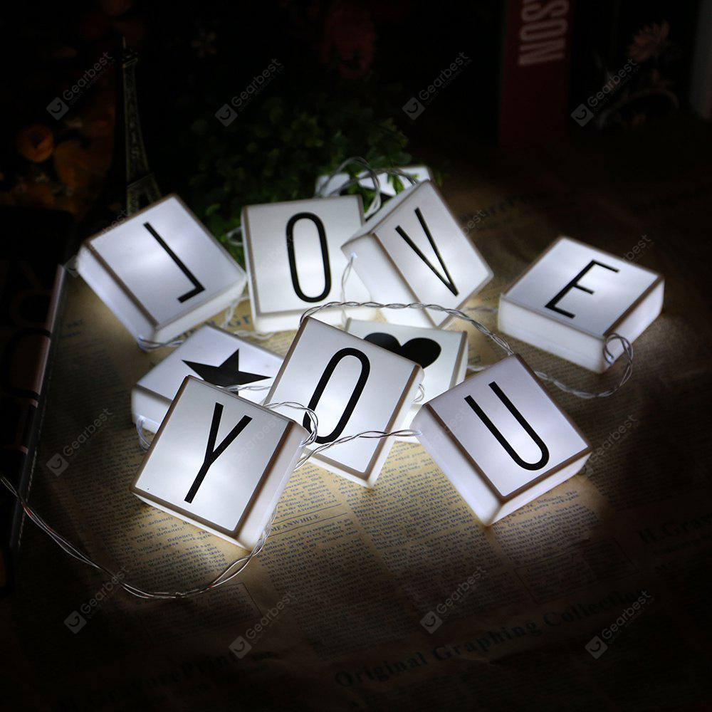 DIY LED Letter Hanging String Lamp Lights Parties Holiday Home